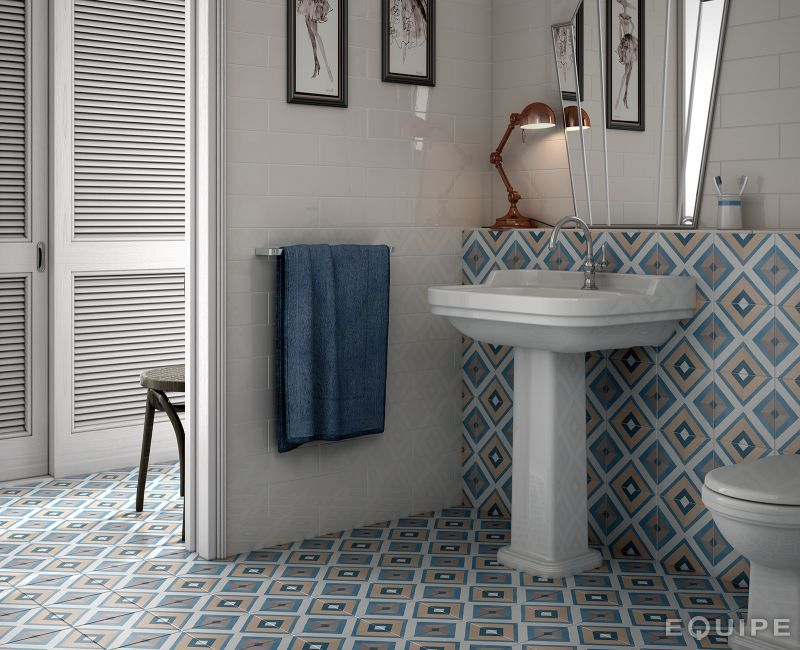 Boden- und Wandfliesen. C. Ciment imitation - Art Deco 8 Colours ...