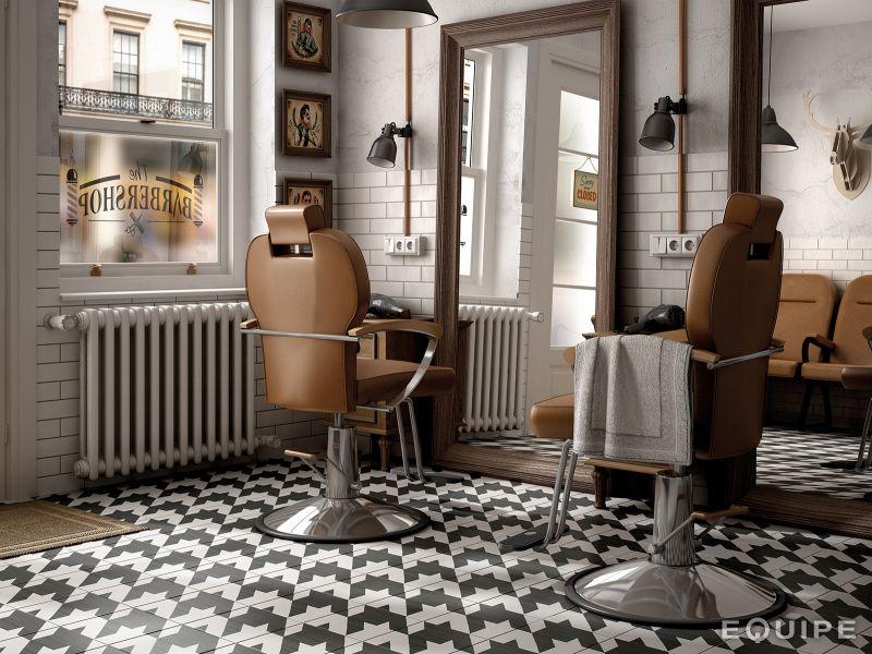 Boden- und Wandfliesen. Aspect Cx. Ciment - Art Deco 9 B&W 20x20 ...