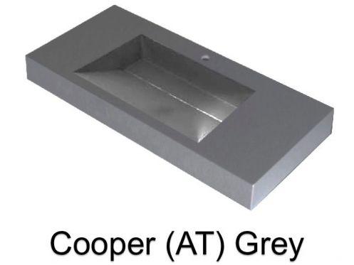 waschbecken largeur 100 waschbecken breite 100 cm kunstharz cooper grau. Black Bedroom Furniture Sets. Home Design Ideas