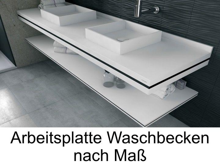 Feste Oberfläche in der Lage, Plan für Badezimmer ...