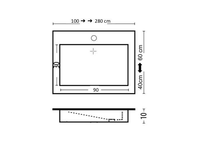 waschbecken largeur 140 waschbecken breite 140 cm kunstharz cooper schwarz. Black Bedroom Furniture Sets. Home Design Ideas