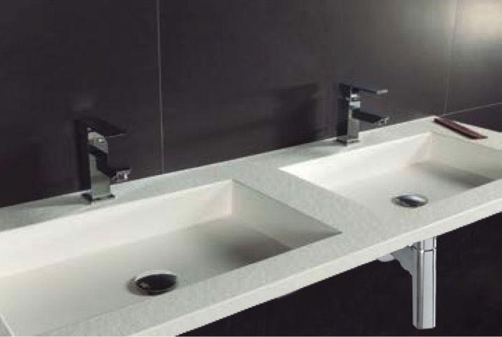Waschbecken largeur 160 doppel waschbecken ausgesetzt for Doppelwaschbecken 160 cm
