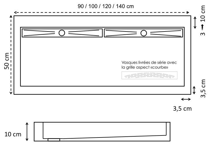 waschbecken largeur 120 doppelwaschbecken 120 cm breit harz wei. Black Bedroom Furniture Sets. Home Design Ideas
