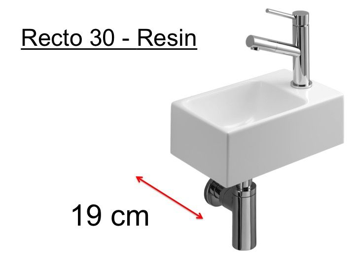 badm bel waschbecken handwaschbecken lave mains waschbecken wc harz tiefe 19 cm montage. Black Bedroom Furniture Sets. Home Design Ideas