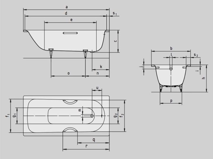 Großartig Badewannen Longueur 180 - Badewanne 180 x 80 cm, aus Kaldewei  ZB85
