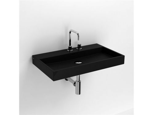 waschbecken lavabo et vasque keramik waschbecken 70 cm washme schwarz matt. Black Bedroom Furniture Sets. Home Design Ideas