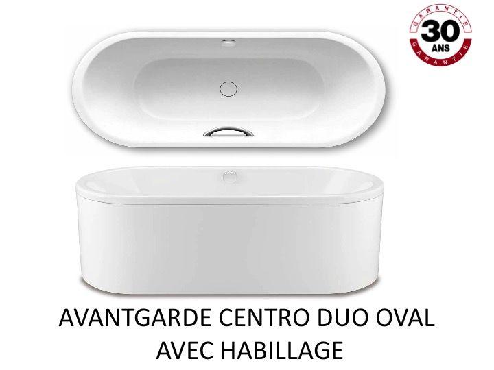 Badewanne 170 x 75 cm, Stahl-Email Kaldewei AVANTGARDE CENTRO DUO ...
