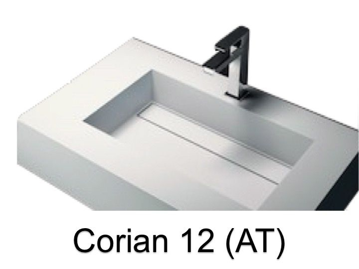 waschbecken largeur 70 corian waschbecken 70 x 50 cm harz solid surface zl12 wei at. Black Bedroom Furniture Sets. Home Design Ideas