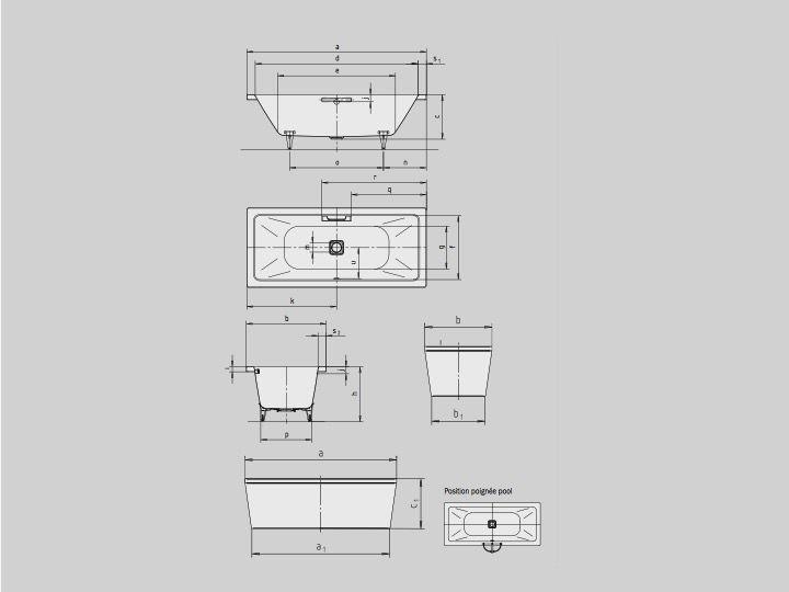 heizk rper beheizter handtuchhalter baignoires badewanne 200 x 100 cm stahl email kaldewei. Black Bedroom Furniture Sets. Home Design Ideas