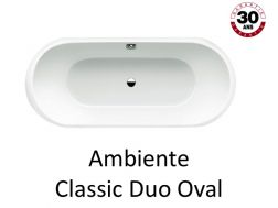 Badewanne 180 x 80 cm, Stahl-Email Kaldewei CLASSIC DUO OVAL ZIMMER
