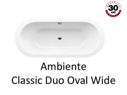 Badewanne 180x80 cm, Stahl-Email Kaldewei CLASSIC DUO OVAL WIDE ZIMMER