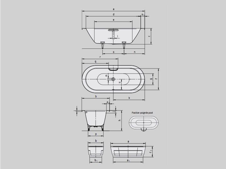 Großartig Badewannen Longueur 180 - Badewanne 180x80 cm, Stahl-Email  ZB85