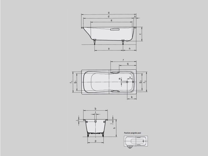 Schön Badewannen Longueur 160 - Badewanne 160 x 70 cm, Stahl-Email  FN67