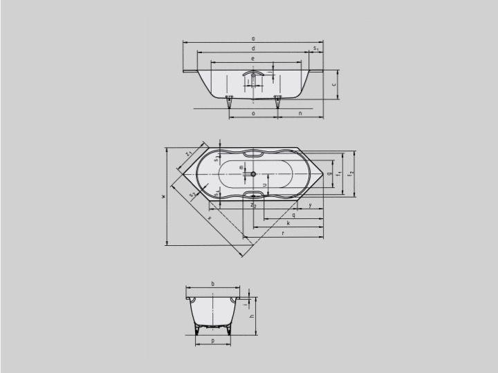 Unterschiedlich Badewannen Longueur 160 - temp => Badewanne 160 x 70 cm, Stahl  IE27