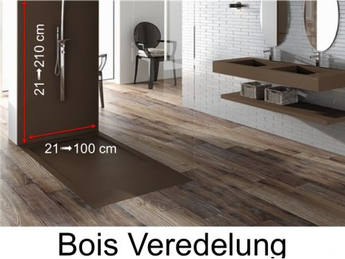 duschwanne panneau mural wandpaneele farbe duschwannen harz holz veredelung. Black Bedroom Furniture Sets. Home Design Ideas