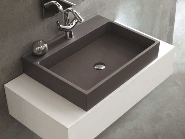 waschbecken largeur 100 waschbecken 100 cm breit 46 cm tief harz titan anthrazit. Black Bedroom Furniture Sets. Home Design Ideas