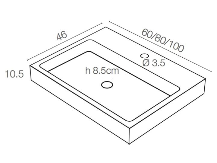 waschbecken largeur 100 waschbecken 100 cm breit 46 cm tief harz titan weib. Black Bedroom Furniture Sets. Home Design Ideas