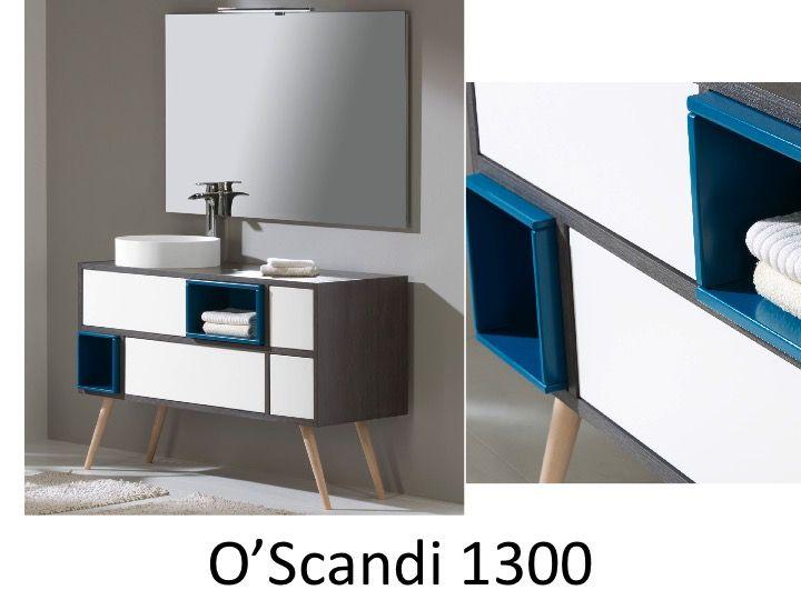 badezimmerm bel mit originellem design von 130 cm zu fu mit einem erh hten becken oscandi 1300. Black Bedroom Furniture Sets. Home Design Ideas