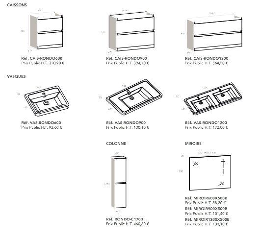 badmöbel - waschbecken - handwaschbecken meubles sdb, Hause ideen