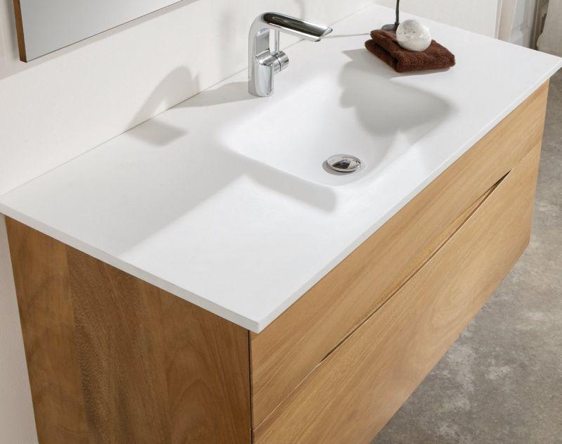 Badmöbel - Waschbecken - Handwaschbecken Meuble Teck ...