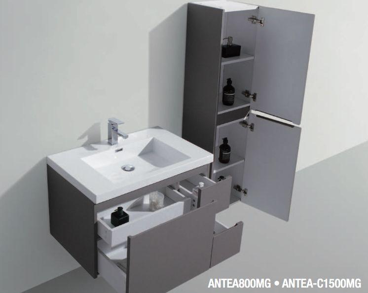 Badm bel waschbecken handwaschbecken meuble teck for Kuchenunterschrank mit schubladen 100 cm