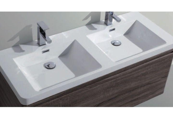 badm bel waschbecken handwaschbecken meuble teck badezimmerschrank h ngen 120 cm mit. Black Bedroom Furniture Sets. Home Design Ideas