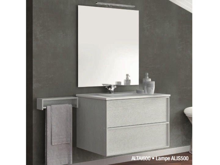 Badm bel waschbecken handwaschbecken meuble sdb badezimmerschrank h ngen 60 cm breit mit - Badezimmerschrank mit waschbecken ...