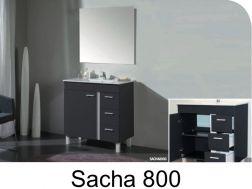 Badezimmermöbel Auf Die Füße Zu Stellen, 80 Cm, Mit Waschbecken Und Spiegel    SACHA