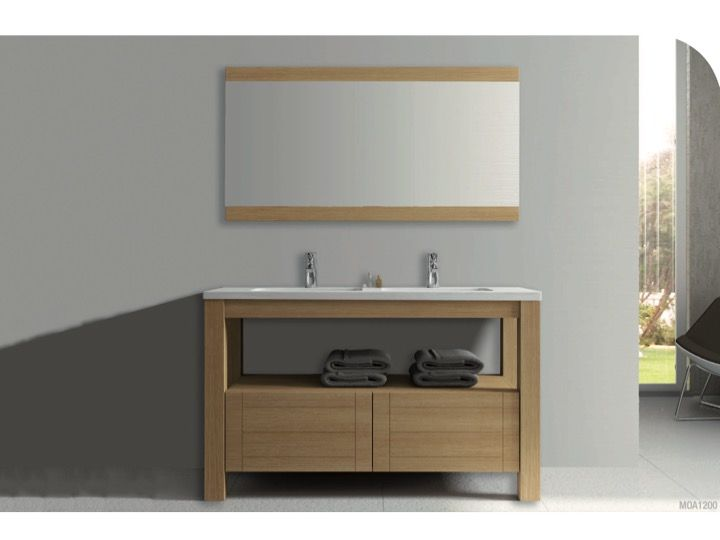 Badezimmermöbel eiche massiv  Badmöbel - Waschbecken - Handwaschbecken Meubles SDB ...