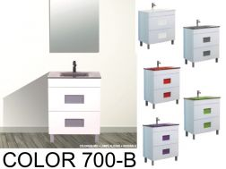 Badezimmermöbel Zu Stellen, Mit Waschbecken Und Spiegel   COLOR 700B