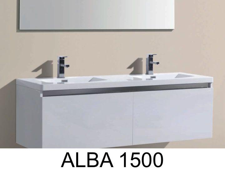 Kabinett Suspendieren Bad Mit Waschbecken Und Spiegel   ALBA 1500