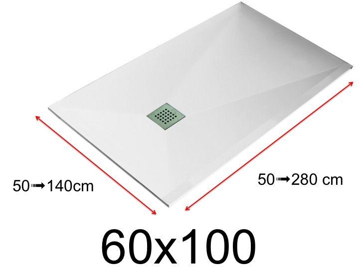 Duschwanne Toutes tailles - Duschwanne - 60x100 cm - 600x1000 mm ... | {Duschwanne flach preis 68}