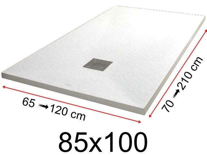 Duschwanne flach preis  Duschwanne Toutes tailles - Duschwanne - 85x100 cm - 850x1000 mm ...