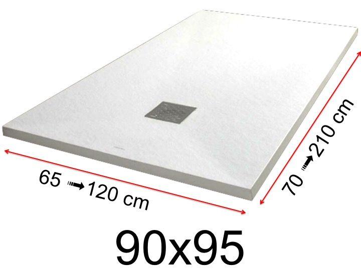 Duschwanne Toutes tailles - Duschwanne - 90x95 cm - 900x950 mm ... | {Duschwanne flach preis 15}