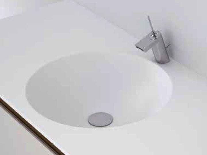 Arbeitsplatte Bad Mit Rundem Becken Typ Corian In Mineralharz Solid