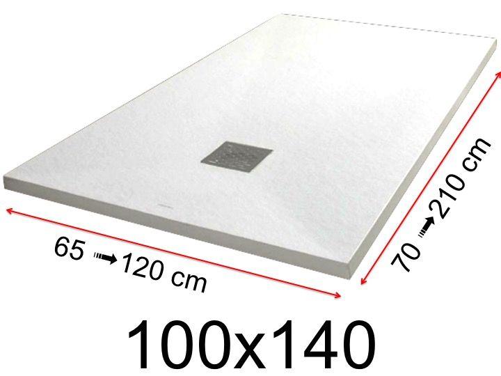 Duschwanne flach 100 x 140  Duschwanne Toutes tailles - Duschwanne - 100x140 cm - 1000x1400 mm ...