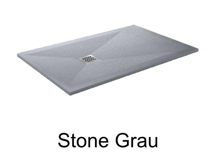duschwanne longueur 115 duschwanne 115 cm geringe gr e ultraflach harz stein farbe grau. Black Bedroom Furniture Sets. Home Design Ideas