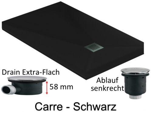 duschwanne longueur 150 extra flache duschwanne 150 cm spund extra flach 58mm schwarz carre. Black Bedroom Furniture Sets. Home Design Ideas