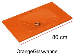 Glaswanne 46 x 80 - orange
