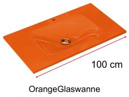 Glaswanne 46 x 100 - Orange