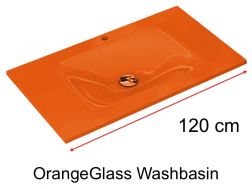 Glaswanne 46 x 120 - orange