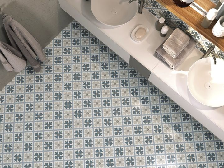 Textile Fußboden Fliesen ~ Boden und wandfliesen stil zementiert arabela schauen