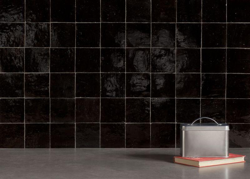 Boden- und Wandfliesen. Oriental - Zellij 10X10 MEDINA BLACK - Moose ...
