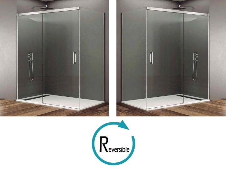 duschabtrennungen longueur 125 schiebewand dusche mit festen seiten 130 x 70 130 x 80 130 x. Black Bedroom Furniture Sets. Home Design Ideas