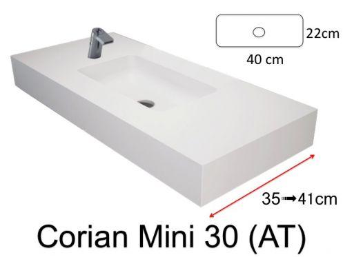 waschbecken corian type sehr kleines. Black Bedroom Furniture Sets. Home Design Ideas