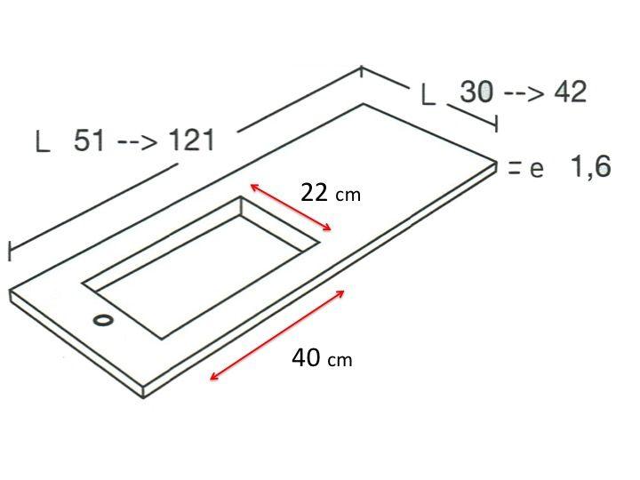 Sehr kleines Badezimmerwaschbecken, 50 x 30 cm - HYDRA Mini ...