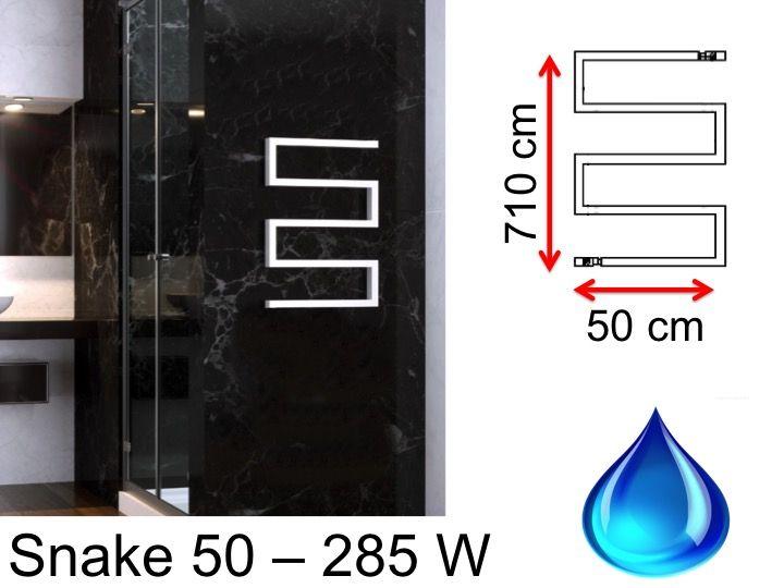 Heizkörper, beheizter Handtuchhalter 300 Watt - Designer Warmwasser ...