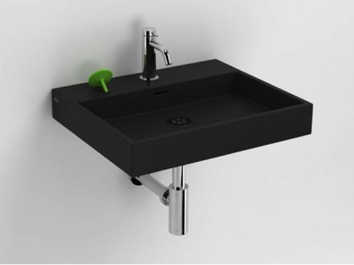 waschbecken lavabo et vasque designer waschbecken 50 x 42 cm mattschwarze keramik clou wash me. Black Bedroom Furniture Sets. Home Design Ideas