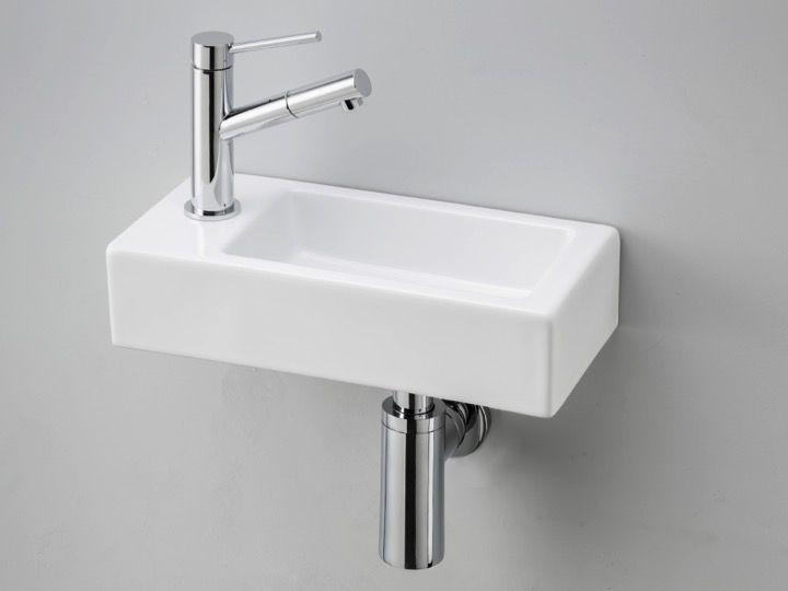 Ultra kleines handwaschbecken keramik tiefe 18 cm hahn for Kleines waschbecken fur wc