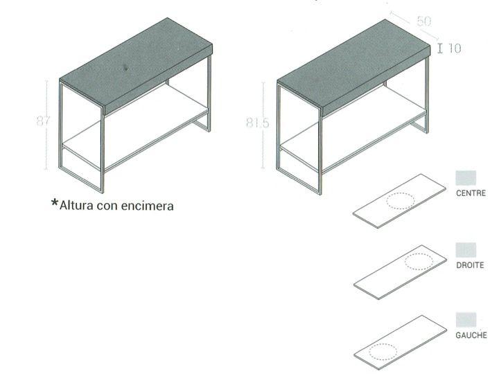 Design Waschtisch Waschbecken aus schwarzem Art-Deco-Stahl ...